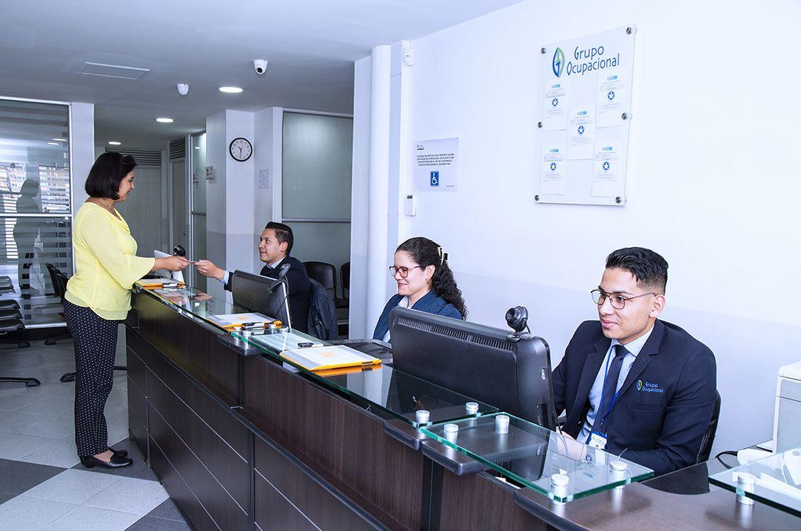 Equipo e instalaciones Grupo Ocupacional   Recepción